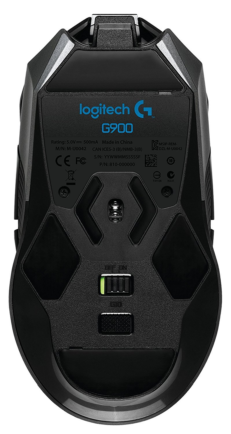 Logitech G900 Chaos Spectrum Gaming Mouse Bottom