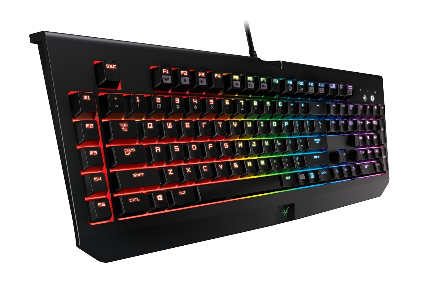 Razer BlackWidow Chroma Mechanical Gaming Keyboard Quarter